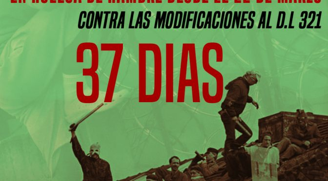 Thursday, April 22, 2021 Santiago de Chile : 2nd Public Communique on the 32nd day of the Hunger Strike.