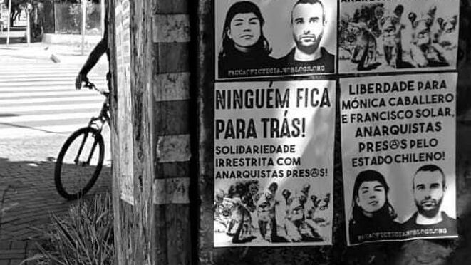 Porto Alegre, Brazil : Action in solidarity with the anarchist and subversive prisoners on hunger strike